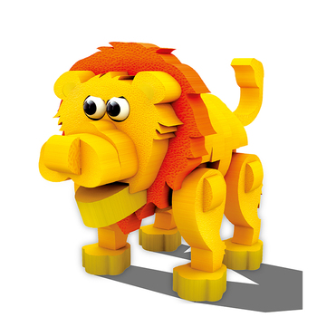 Best selling animal educational toy lion 3D foam puzzles