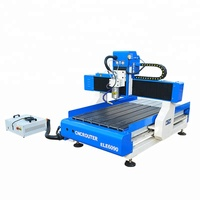 Mini advertising cnc router , ele 9060 blue elephant cnc for wood art craft , phone case