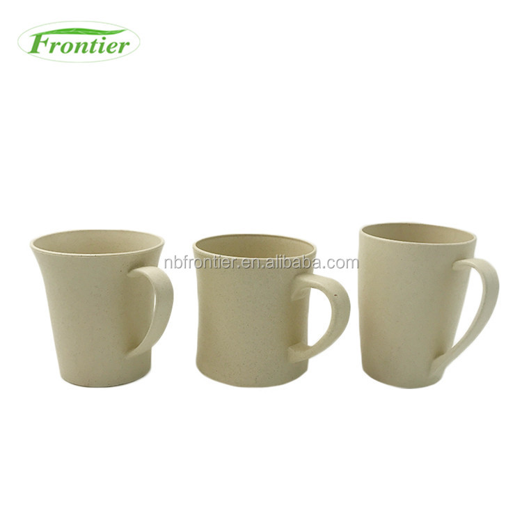 Reusable Drinkware 370ml Ecological Cup Fiber With Handle