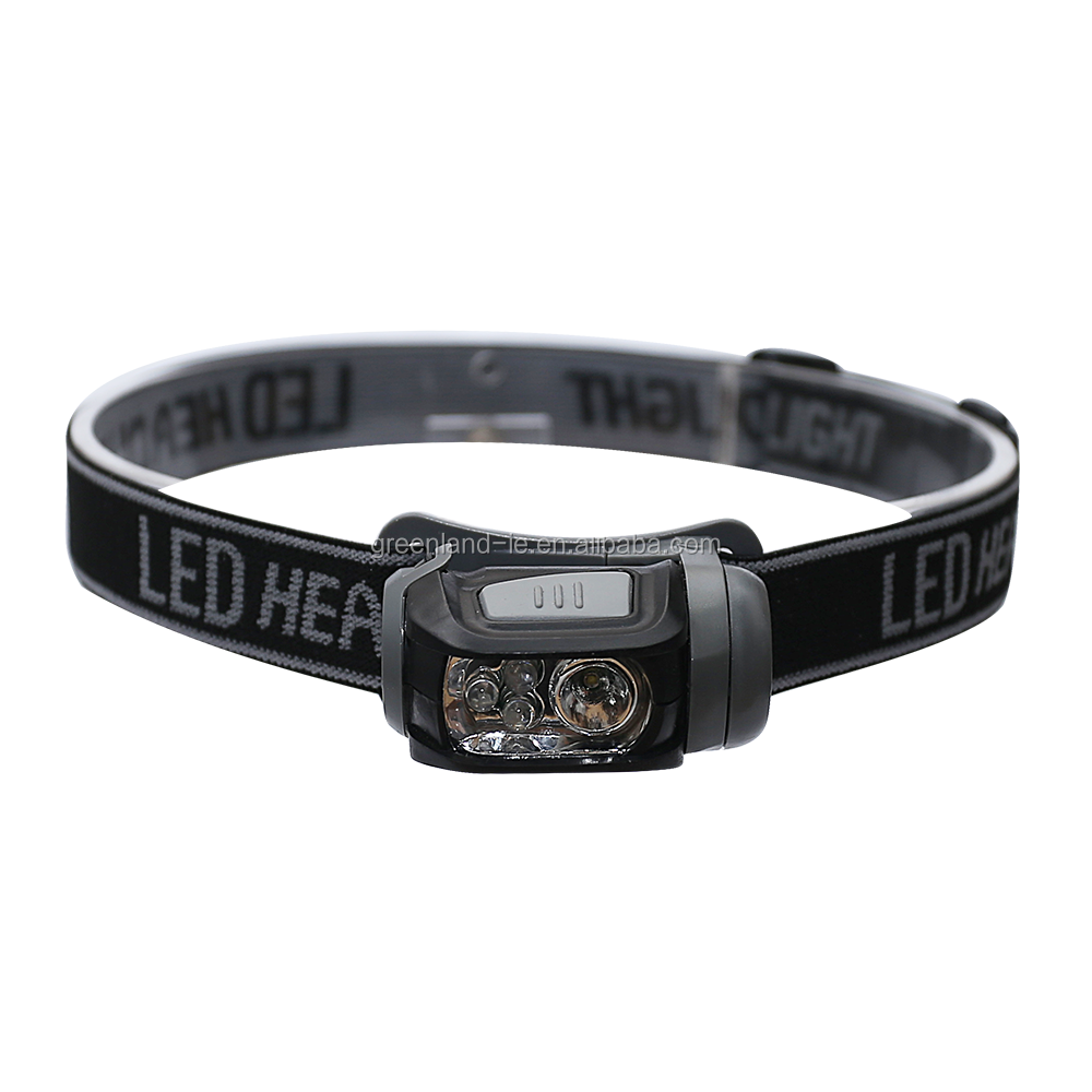 High quality ABS outdoor 3 watt XPE and red LED AAA dry battery LED lighting headlamp