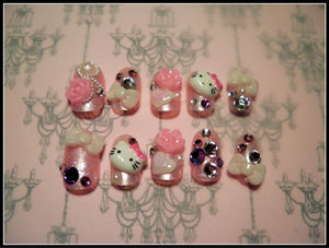nail art korea/french nail gel/korean nail art