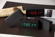 Wooden LED Alarm+Time/date/temperature Digital Table Clocks
