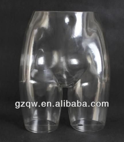 Alibaba fashion cheap underwear PC transparent mannequin torso