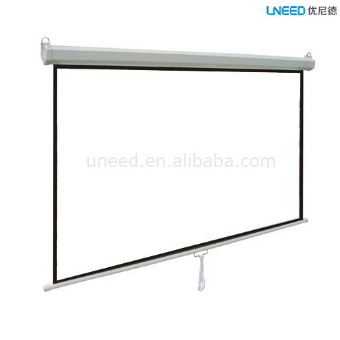 UNEED Electric Projection Screen Matte White Glass Beaded Fiber Glass Screen Fabric Lowest Price Of Projection