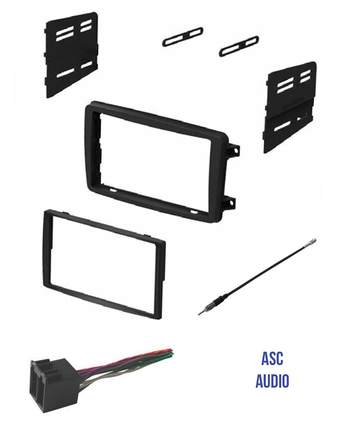 Get Quotations · ASC Audio Car Stereo Radio Install Dash Kit, Wire Harness,  and Antenna Adapter to
