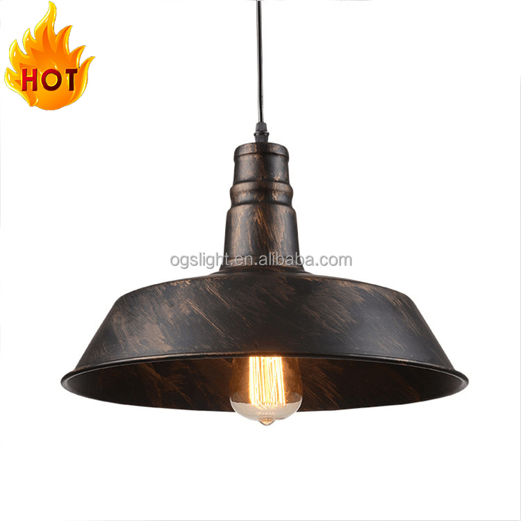 Creative modern bar single-head iron chandelier for restaurant decoration