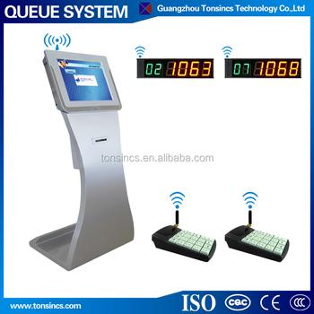 Queue Management System Ticket Dispenser Kiosk For School