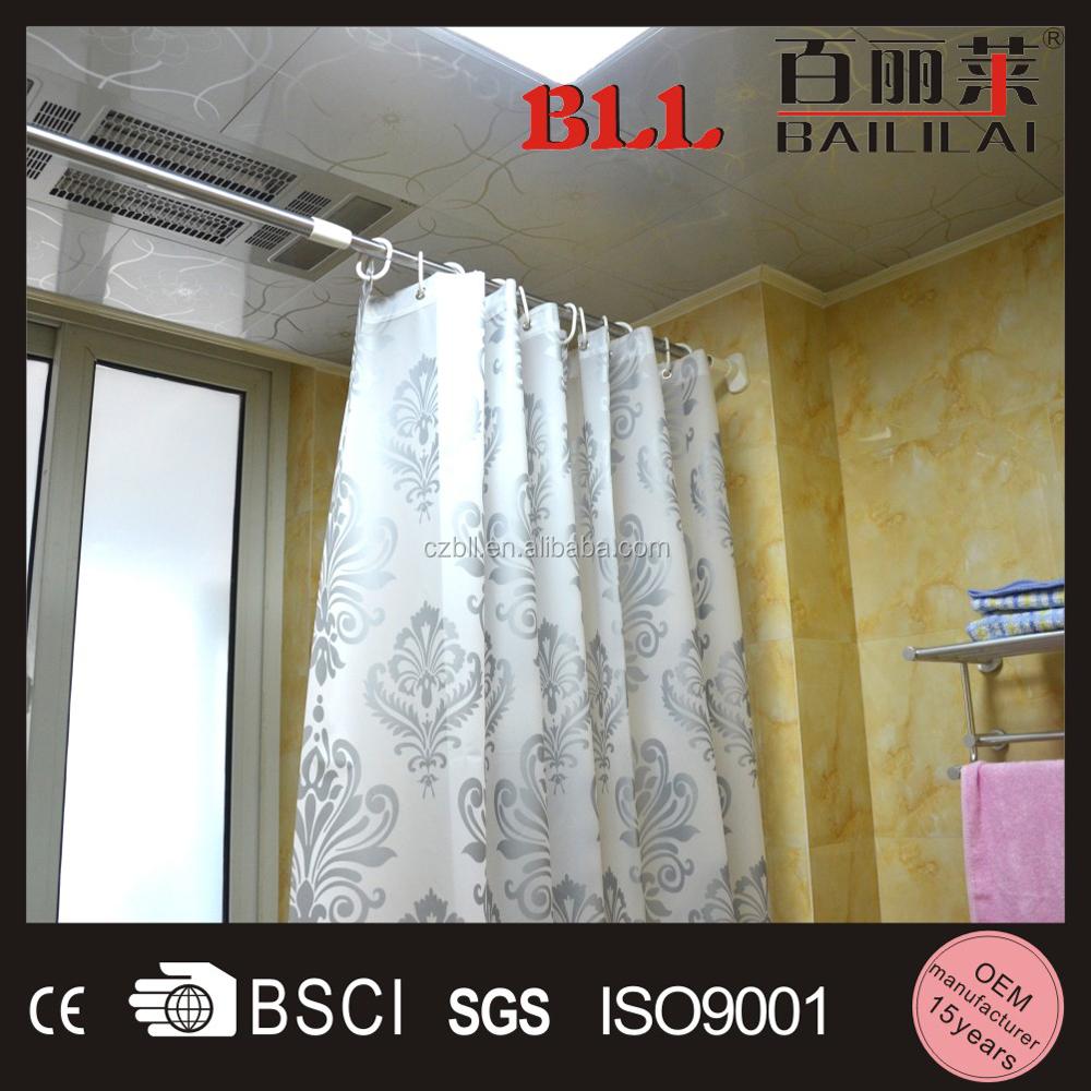 Barra de colgar para cortina de ducha de acero inoxidable - Cortina para ducha ...
