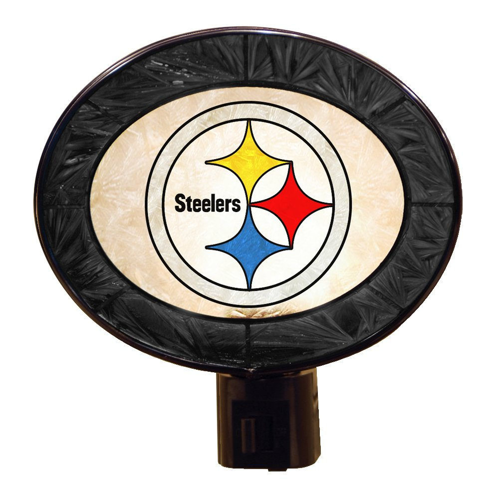 Pittsburgh Steelers Art Glass Night Light