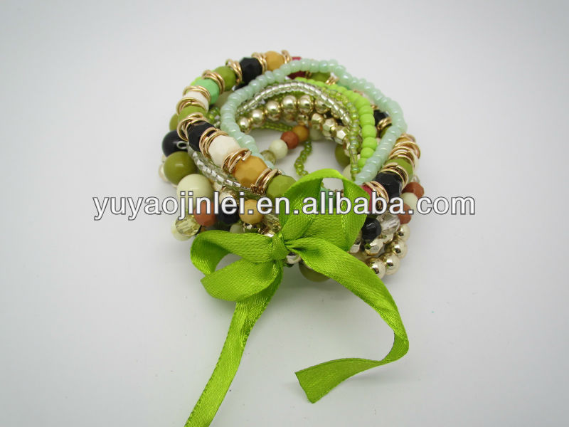plastic beads bracelet,Handmade colorful bracelet,Fashion jewlry 2013