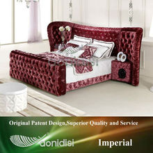 Luxurious Music Fabric Bed Red Color 1155