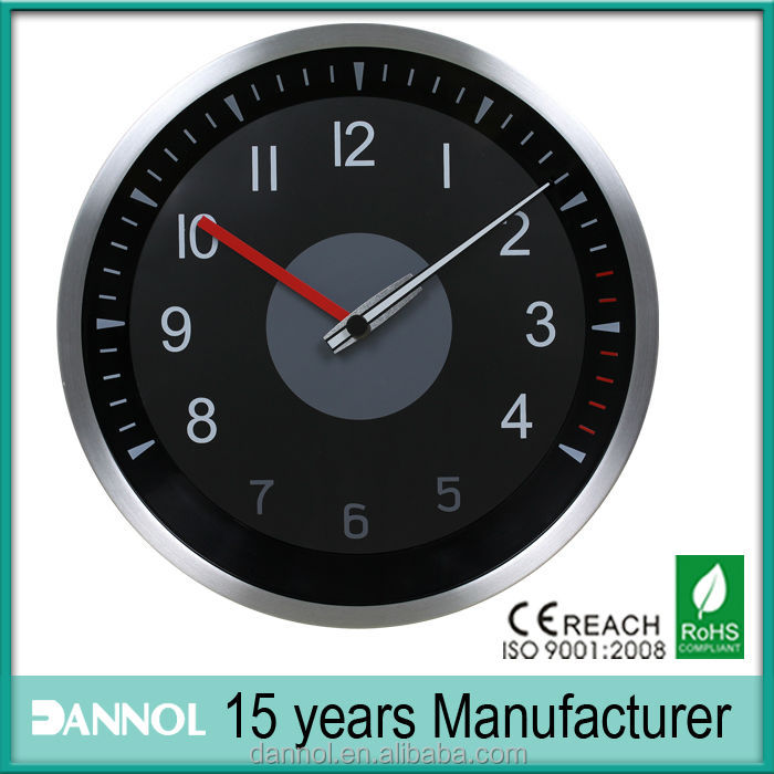 12inch Aluminium Car Dashboard Clocks Analog Wall Clockcar