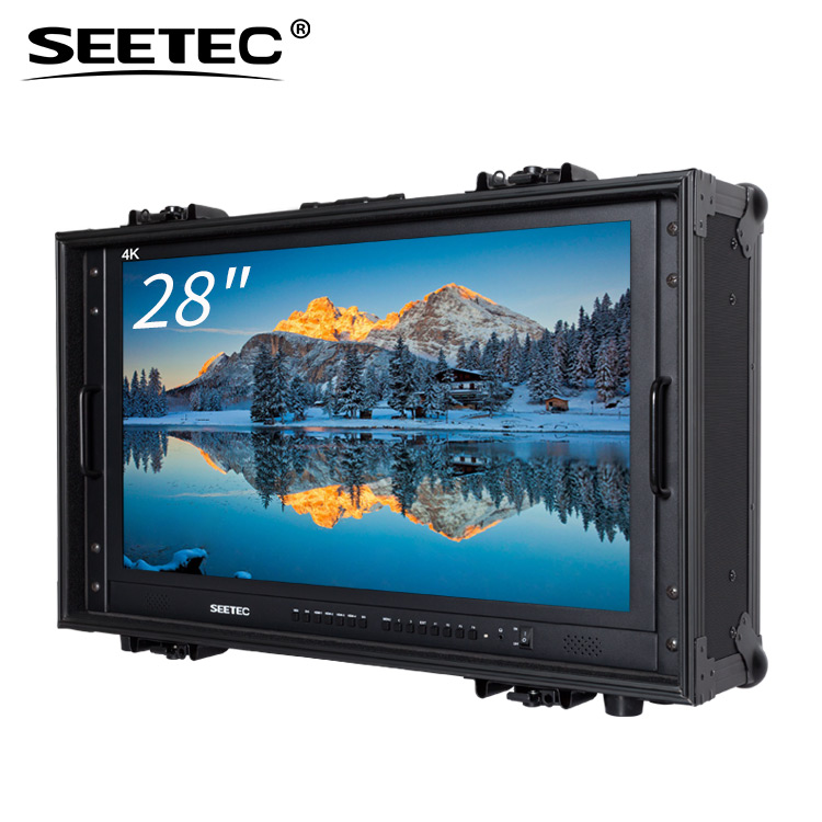 SEETEC widescreen 10 bit display 28 inch ultra hd monitor 4k lcd for director with Built-in LED tally indicators