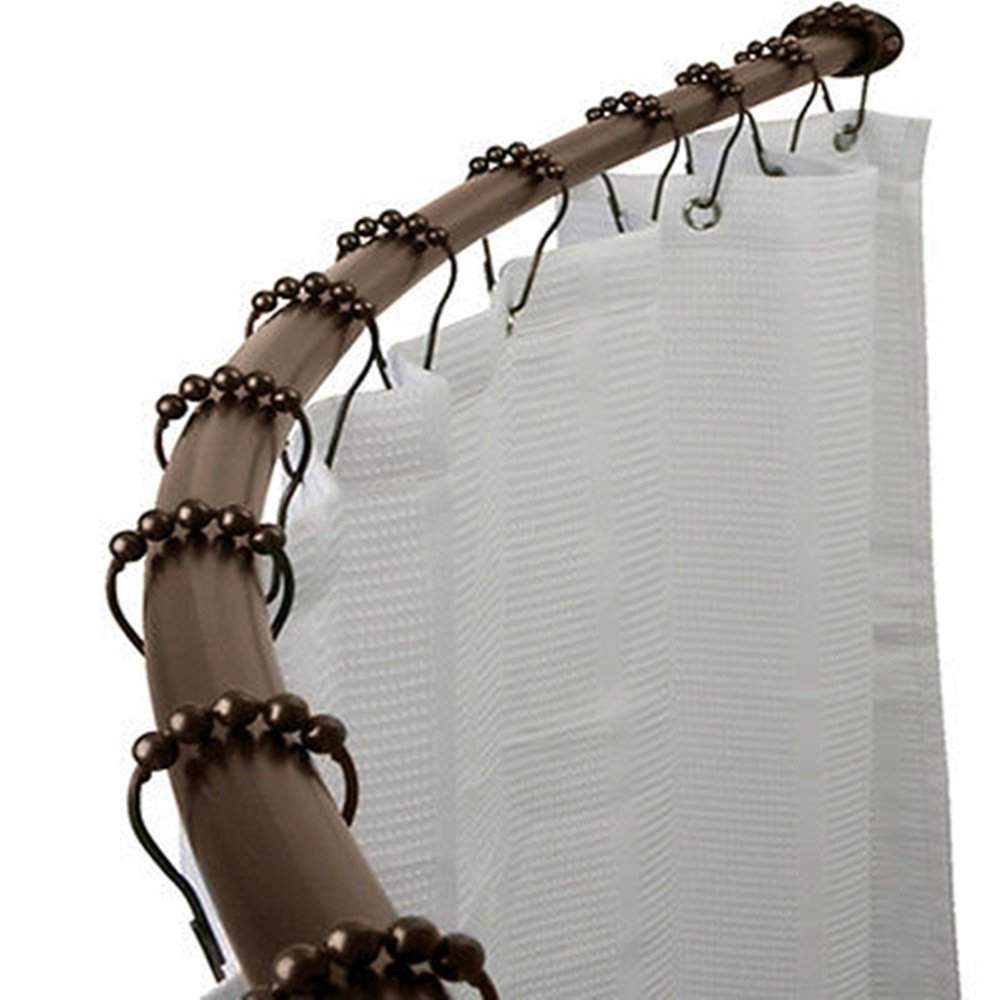 rod oil bathroom grade bronze commercial rubbed curtain curtains shower curved flange double