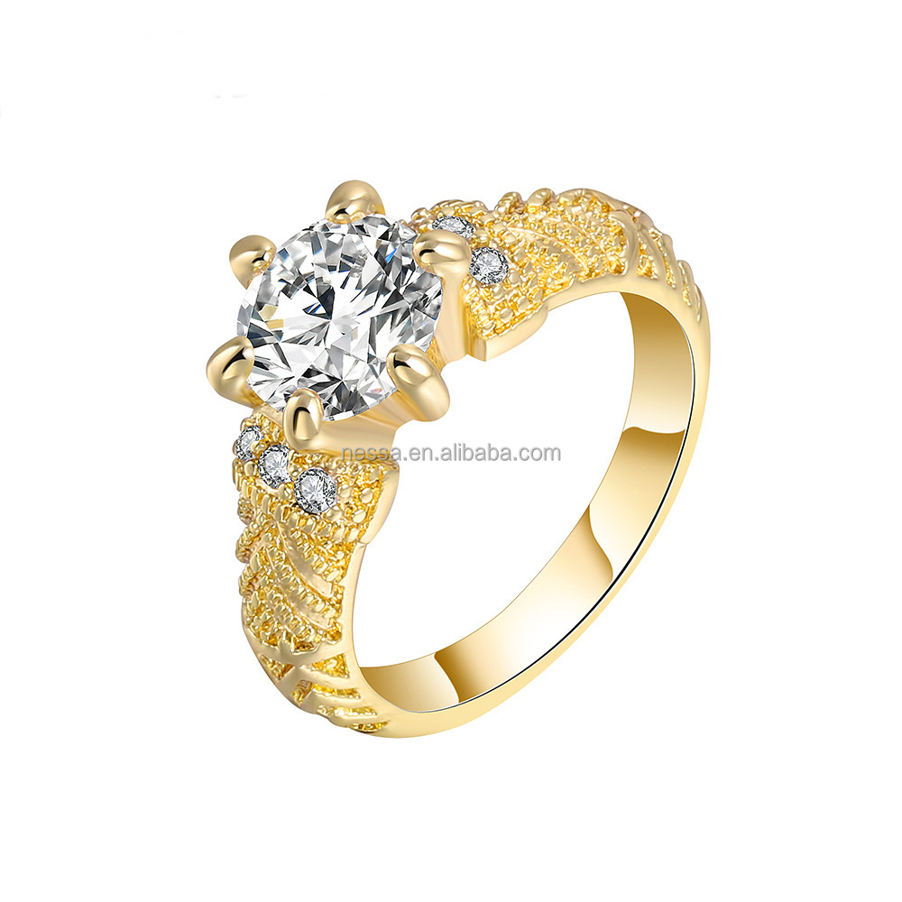 Fashion Simple Gold Finger Ring Wholesale Nskn-0051 - Buy Simple ...