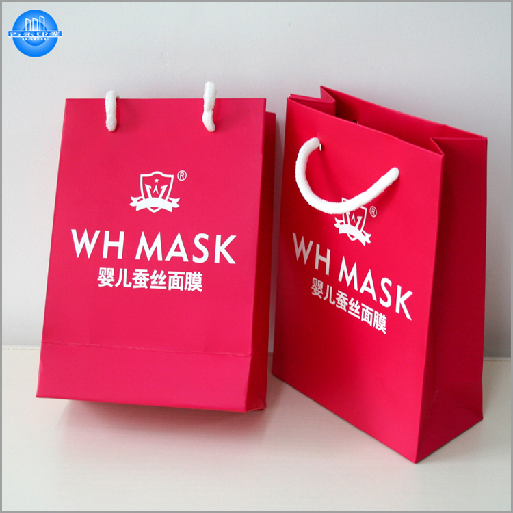 Hot sale custom cheap color logo small paper gift bags