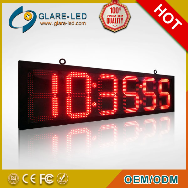 Red Characters LED message clock