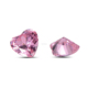 Grade AAA Synthetic Cubic Zirconia Heart Shape 8x8mm Pink Color CZ