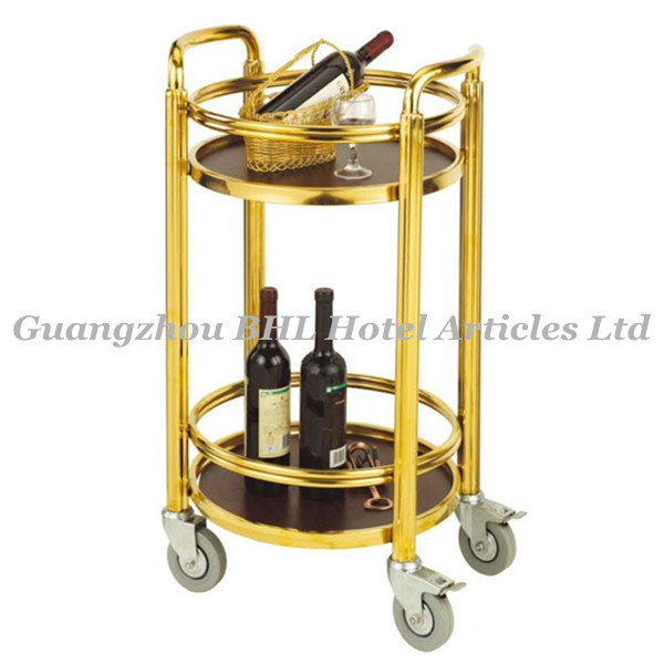Mobile Rolling Kitchen Hotel Banquet Cart metal/two shelf banquet cart with 4 swivel casters ( C48 )