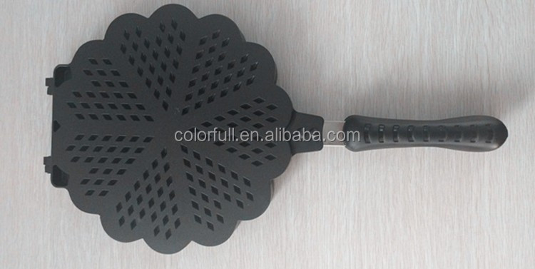 Non Stick Cooking Surface Feature Liege Waffle Fish Shape Cake Maker Italia Ice Machine Factory Wholesale