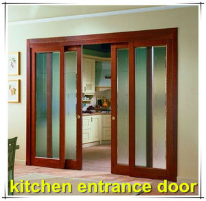 High quality low price double glazing kitchen entrance door