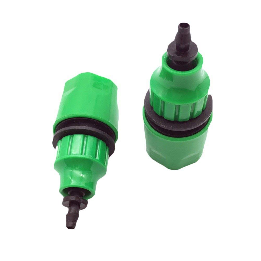 50 Pcs 1/2'Garden Hose Quick Coupling Connector Assembly With 1/4'Barbed Connector Garden Irrigation Drip Irrigation Watering 1/4''