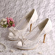 White Butterfly Lace Wedding Shoes