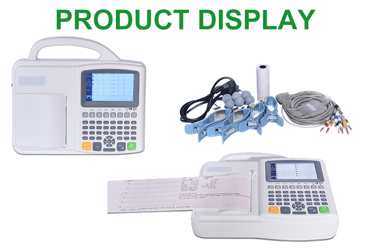 IN-H021-1 6 channel portable veterinary ecg digital ecg device with CE certificate