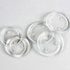 Round Clear Glass Pillar Candle Holder Plate