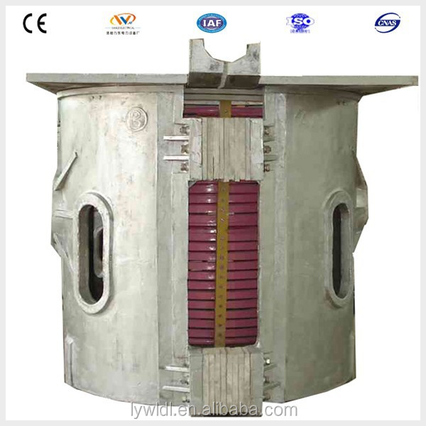 3T electric induction iron foundry melting pot electric rotary oven