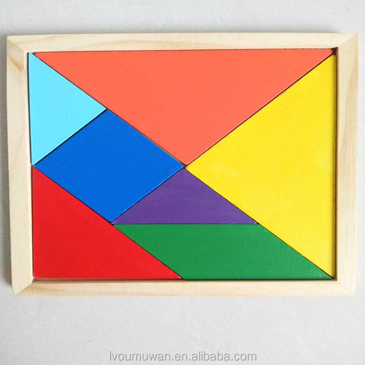 wooden colorful jigsaw toy puzzle