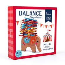 mideer MD0054 Wooden Stacking Balance Elephant Educational Math Toys for Children Learning Play Puzzle Games Kids Gift Boy Girl