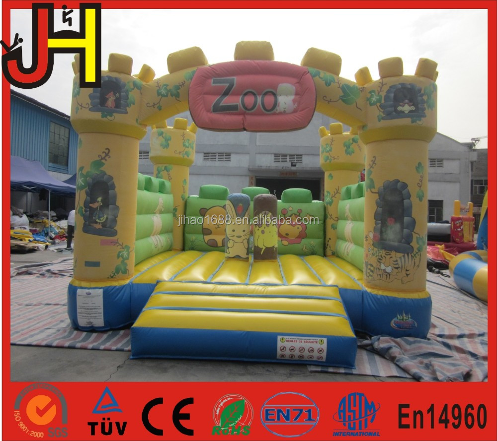 Happy inflatable zoo park, zoo playland inflatable, zoo park inflatable fun city