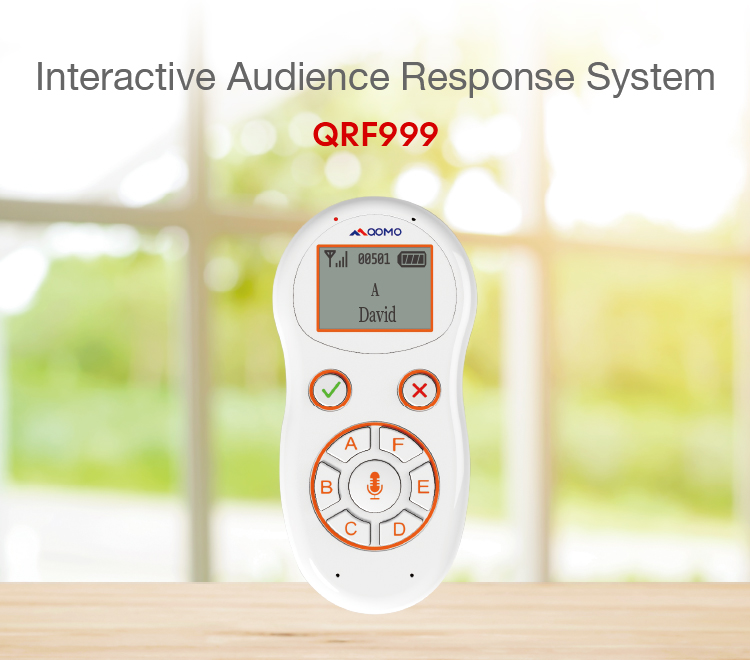 QRF999 Audience Response System interactive wireless voting system