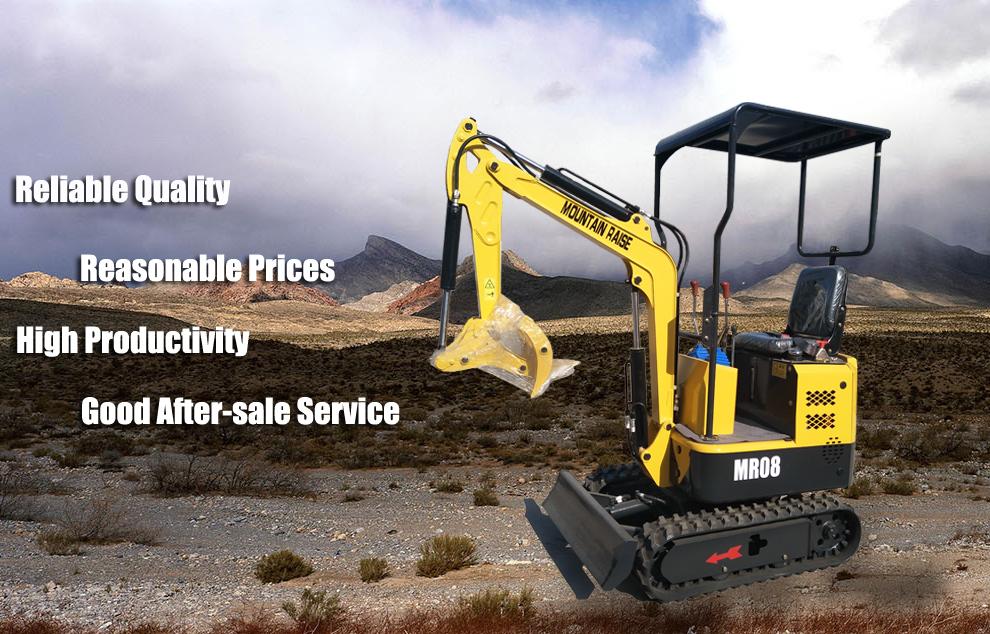 Pequeña excavadora Mini excavadora de 0.8 toneladas en venta