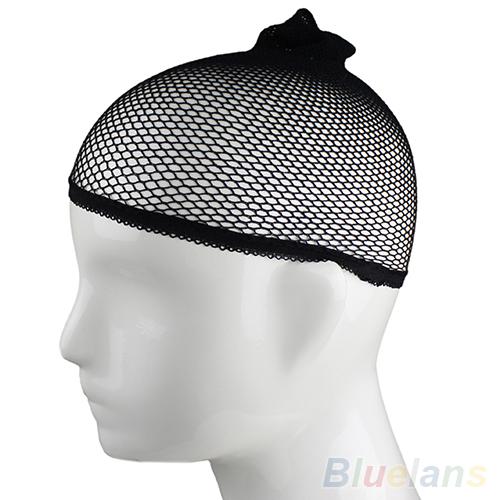 Новый 2 шт. мужская парик чулок лайнер Cap поводка нейлон стретч сетки для волос сетка черные обнаженные женщины мужчины 1HJM