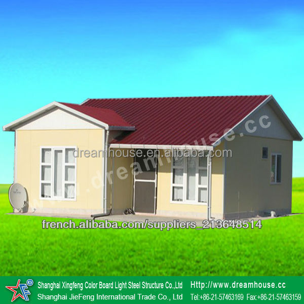 2016 hot selling prefab house with high quality/two bedroom prefabricated house plans/economic vacation light steel house