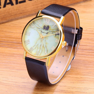 Originality brief leather band leisure men and women quartz watches customized MT118934