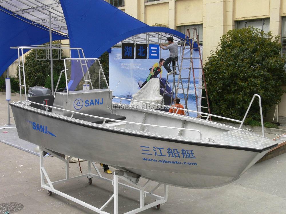 Barca da pesca in alluminio a buon mercato con motore for Barca a vapore per barche da pesca