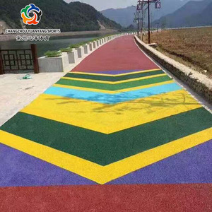 Outdoor Garden Road permeable environmentally friendly plastic ground material: colored rubber particlesPrice