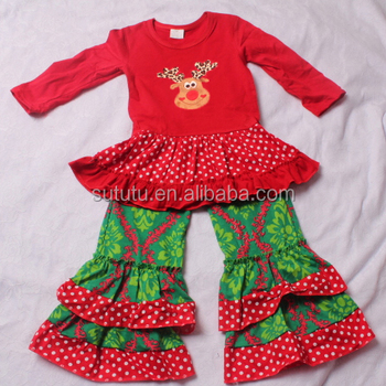 sue lucky christmas boutique outfits red dress with deers head designs embroidery bali clothing wholesale