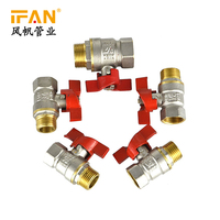 "Yiwu Market Manufacturer Plumbing fitting 1/2""-2"" Gas Valve Brass Ball Valves PEX Pipe Fitting"