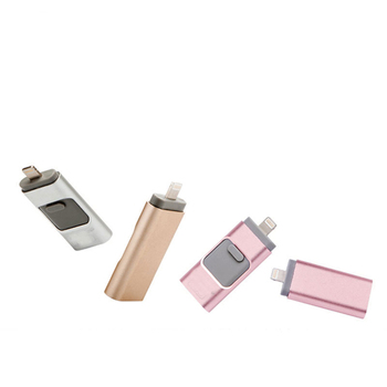 Hot! OTG USB Flash Drive For iPhone 16GB 32GB 64GB USB Memory Stick 3in1 OTG for Android micro PC Pendrive 128GB 256GB