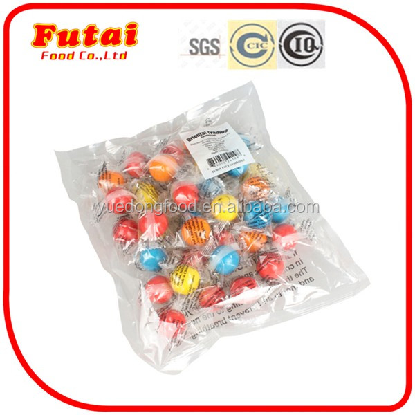 9g halal smiling face colorful tattoo bubble gum ball chewing gum Mix fruit energy gum
