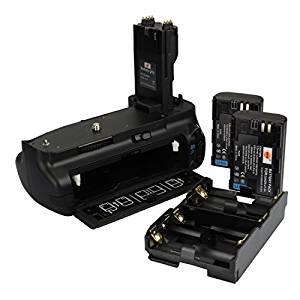 DSTE® Pro BG-E7 Vertical Battery Grip + 2x LP-E6 LP-E6N for Canon EOS 7D SLR Digital Camera