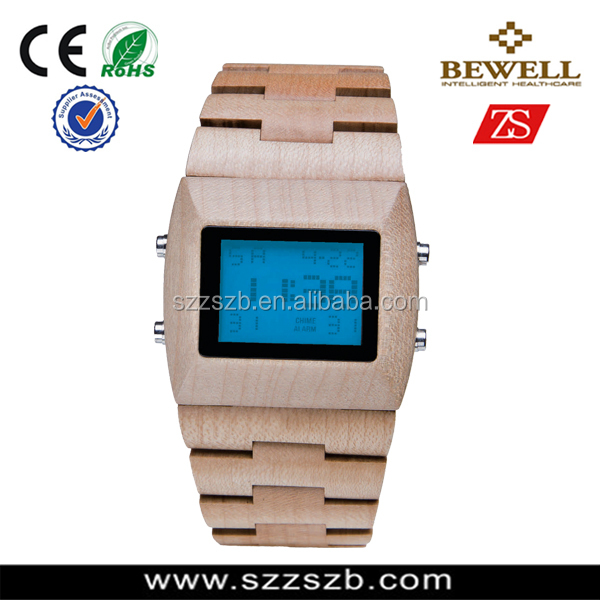 2016 Unique design Hot-Selling Sandalwood Watch with Wood Case and Band, Japan Electronic Movement 2035