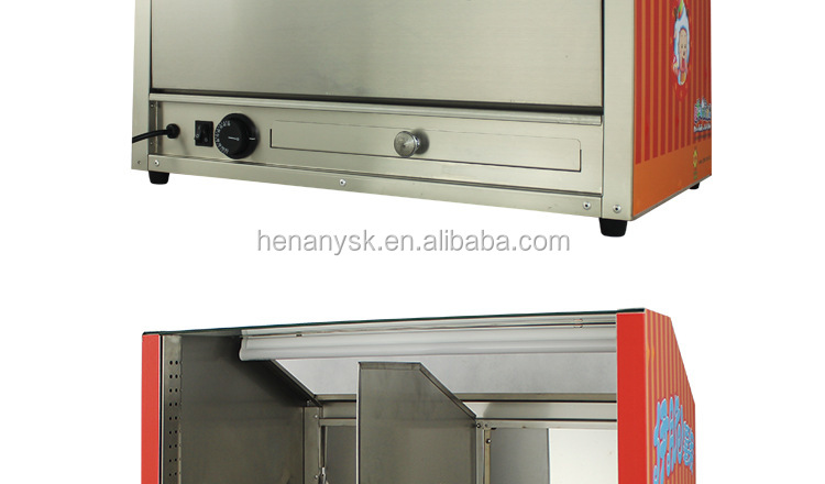 IS- OT-388 Precise Temperature Control Stainless Steel Toughened Glass Design French Fries Food Warmer
