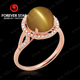 2015 New Arrival Chrysonitor Cat's Eye And Diamond JH 18K Gold Jewelry Rings Wholesale Price
