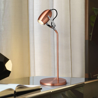 American modern metal plating table lamp LED reading table lamp adjustable angle head book table lamp