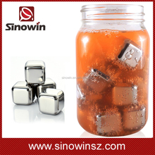 Barware bullet ice cube stainless steel whiskey stones with interested model